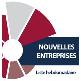 NOUVELLES ENTREPRISES - liste hebdomadaire -  CCI DU MORBIHAN - PDF
